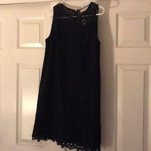 NWT LOFT blue lace halter dress